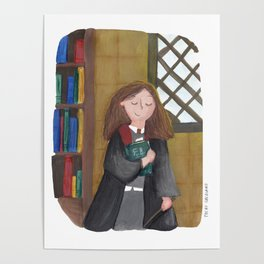 Hermione at the library Poster