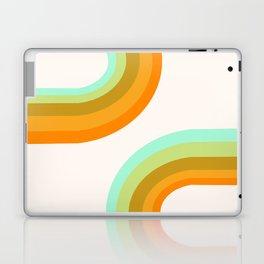 Dy-no-mite - retro throwback 70s style vibes 1970s art decor minimalist surfer Laptop & iPad Skin