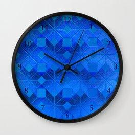 Twilight, Snowflakes #31 Wall Clock
