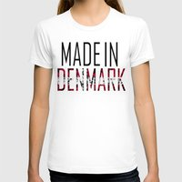 denmark T-shirts featuring Made In Denmark by VirgoSpice