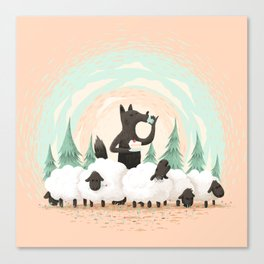 Wolf in the Flock Canvas Print