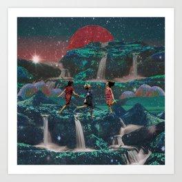 Stardust dance Art Print