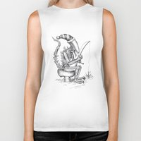 xenomorph Biker Tanks featuring Alien gnome by ronnie mcneil