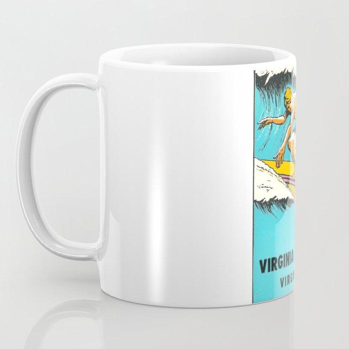 Virginia Beach Retro Vintage Surfer Coffee Mug