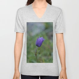 Lone Blue-Purple Anemone Unisex V-Neck