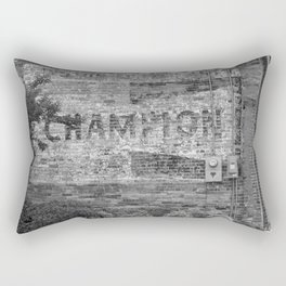 Champion Spark Plugs Vintage Sign | Kinston, NC Rectangular Pillow