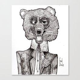 Bear's First Date Canvas Print