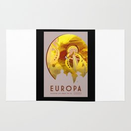 Europa - NASA Space Travel Poster (Alternative) Rug
