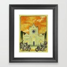 Santa Nouveau Framed Art Print