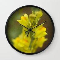 montana Wall Clocks featuring Montana  Wildflower by Lori Anne Photography