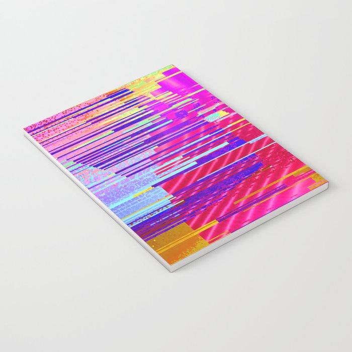 sunset glitch Notebook