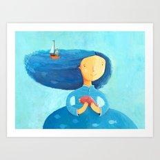 Miss Sea Art Print