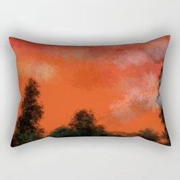 Coral sunrise Rectangular Pillow