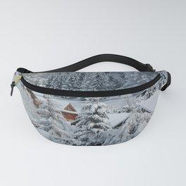 Winter in Alpine Village-1 Fanny Pack