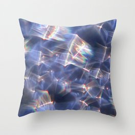 Glassy Refraction 2 Throw Pillow