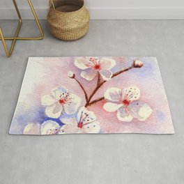 Cherry Blossoms–Watercolor Rug