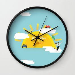 It's another day of sun! Wall Clock