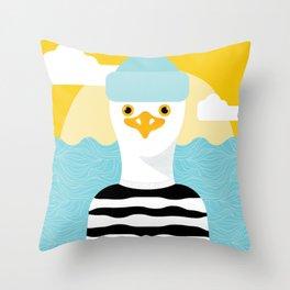 Jason Seagull Throw Pillow