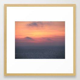 Mediterranean Sunrise Framed Art Print