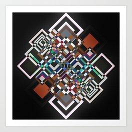 textile geometry Art Print