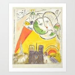 Le Dimanche (On Sundays) from Marc Chagall, 1954 Artwork Derrière le Miroir Magazine, tshirt, tee, j Art Print
