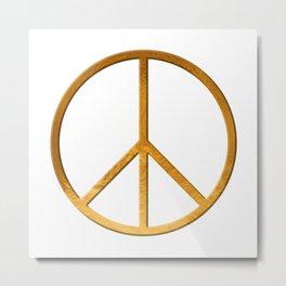 PEACE Symbol – 60th Birthday 21 Feb. 2018 Metal Print