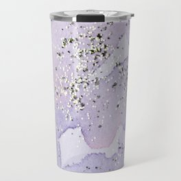 Pastel Glitter Watercolor Painting Travel Mug