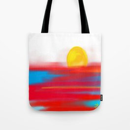 Sketchy Sun and Sea. Sunset and Sunrise Sketch Tote Bag