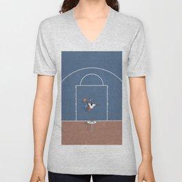 Slam Dunk | Basketball Court From Above  Unisex V-Neck