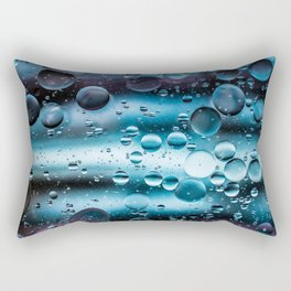 Oil and Water Abstract Background Rectangular Pillow