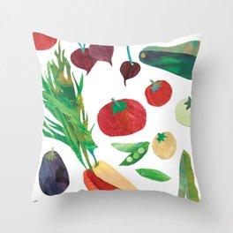 Love Your Veg Throw Pillow