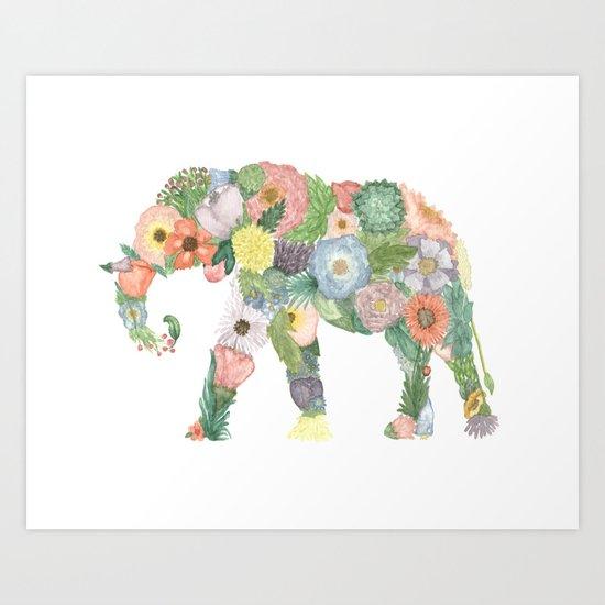 Elephlower Art Print