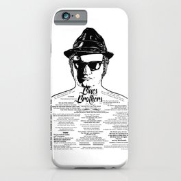 Jake Blues Brothers tattooed 'Four Fried Chickens' iPhone Case