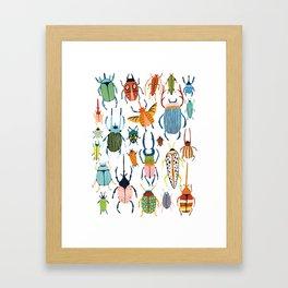 Woodland Beetles Framed Art Print