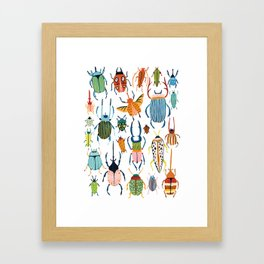 Woodland Beetles Framed Art Print