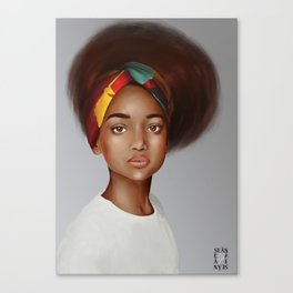Girl in a Bow Canvas Print
