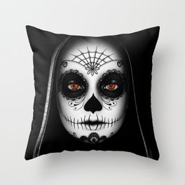 Das Gesicht Throw Pillow