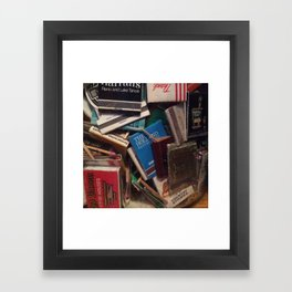 matchbook collection Framed Art Print