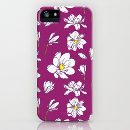 Magnolia Raspberry iPhone Case