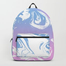 Marble pastel suminagashi japanese swirl spilled ink pattern abstract painting Backpack