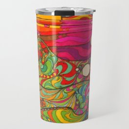 Psychadelic Illustration Travel Mug