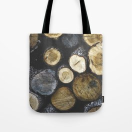 Stacked wood Tote Bag