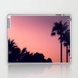 Mediterranean Palm Trees at Pink Sunset Laptop & iPad Skin