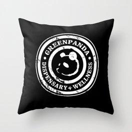 Green Panda Basic Throw Pillow