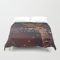 taco Duvet Covers featuring Taco Tuesday by Zeke Tucker