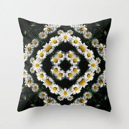 Daisies Mandala 0561 k1 Throw Pillow