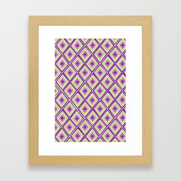 Diamond Geo Framed Art Print