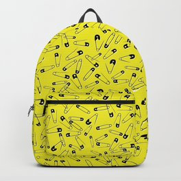 Punk safety pins, yellow Backpack