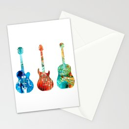 Abstract Guitars by Sharon Cummings Stationery Cards