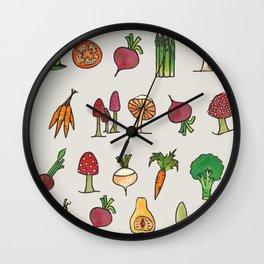 Vegetable Mushroom Fruit Pattern Wall Clock